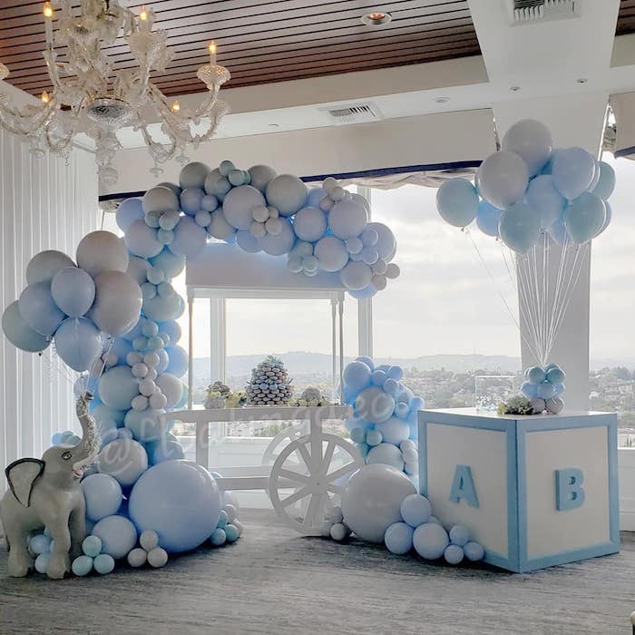 Blue Elephant Baby Shower on Kara's Party Ideas | KarasPartyIdeas.com (8)
