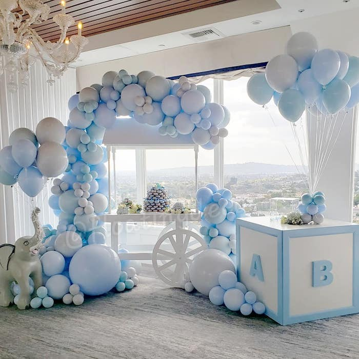 Blue Elephant Baby Shower on Kara's Party Ideas | KarasPartyIdeas.com (7)