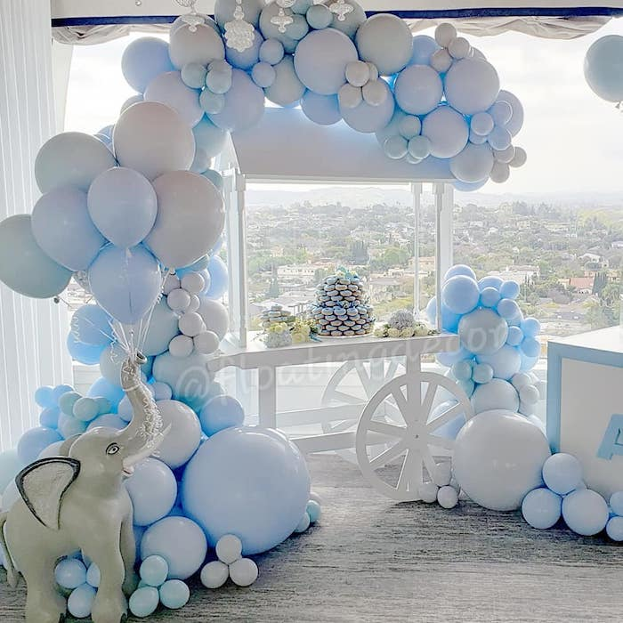 Blue Elephant Baby Shower on Kara's Party Ideas | KarasPartyIdeas.com (5)
