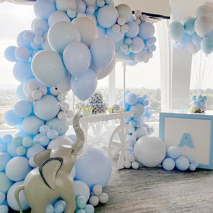 Kara's Party Ideas Blue Elephant Baby Shower | Kara's Party Ideas
