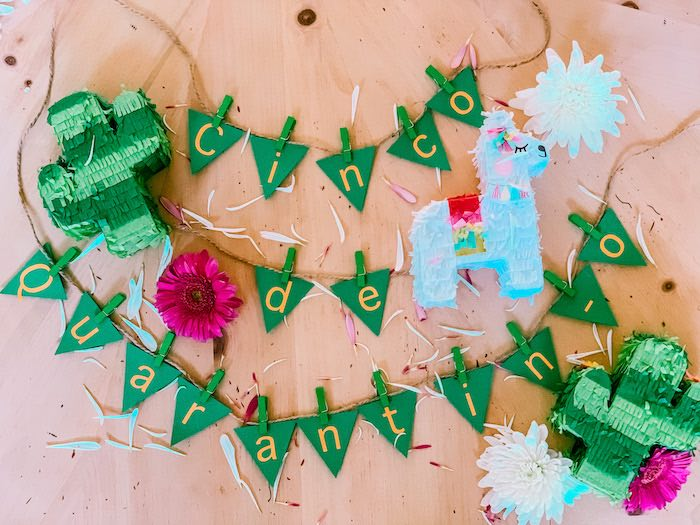 Cinco de Mayo Bunting + Pinatas from a Cinco de Quarantin-o Fiesta on Kara's Party Ideas | KarasPartyIdeas.com (19)