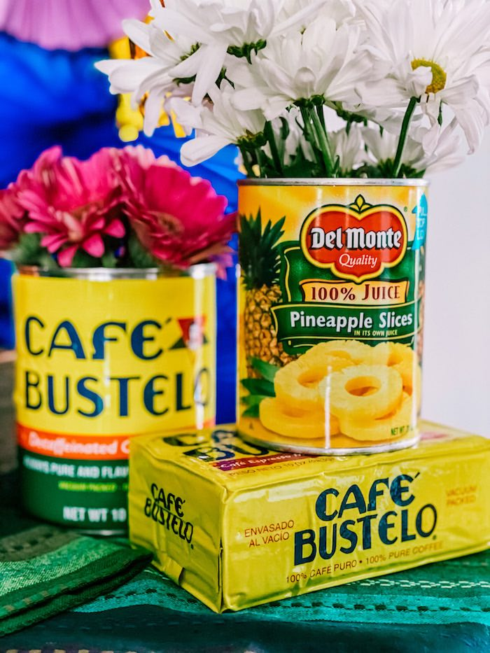 Café Bustelo + Delmonte Can Blooms from a Cinco de Quarantin-o Fiesta on Kara's Party Ideas | KarasPartyIdeas.com (14)