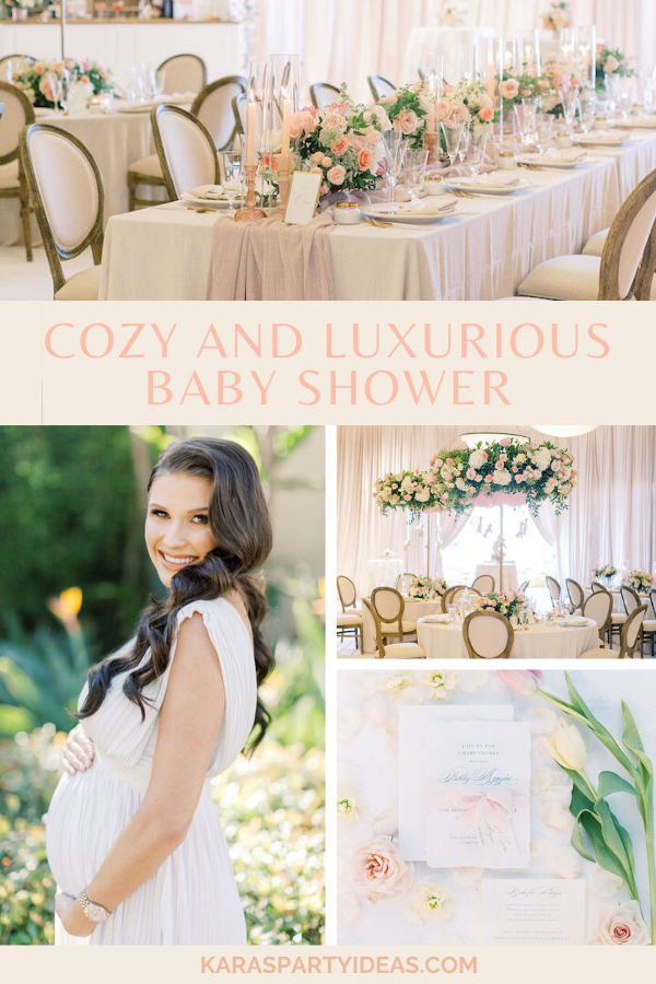 Cozy and Luxurious Baby Shower via Kara's Party Ideas - KarasPartyIdeas.com