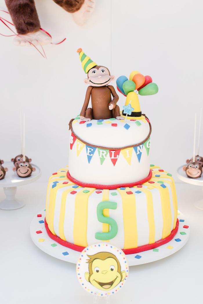 Curious George Cake from a Curious George Birthday Party on Kara's Party Ideas | KarasPartyIdeas.com (22)
