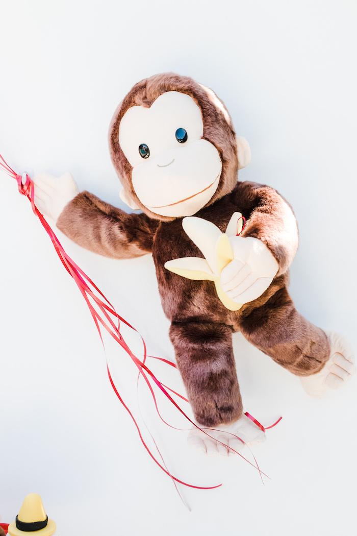 Plush Curious George from a Curious George Birthday Party on Kara's Party Ideas | KarasPartyIdeas.com (17)