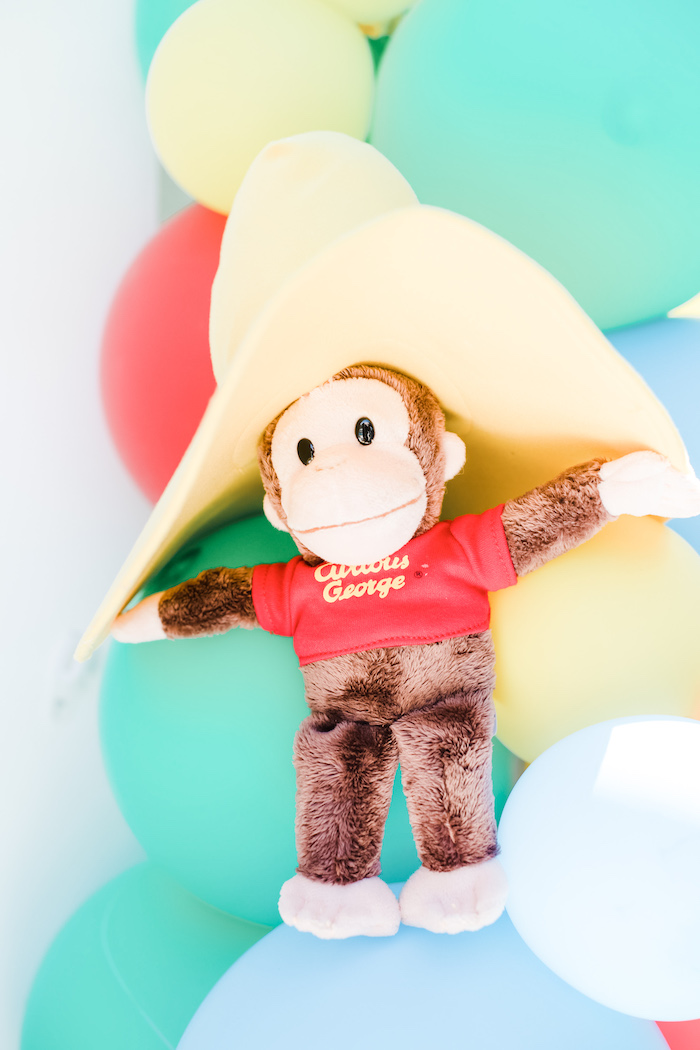 Plush Curious George from a Curious George Birthday Party on Kara's Party Ideas | KarasPartyIdeas.com (16)