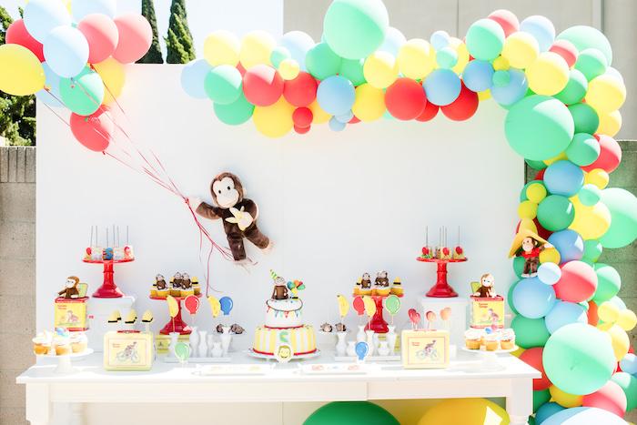 Curious George Dessert Table from a Curious George Birthday Party on Kara's Party Ideas | KarasPartyIdeas.com (14)