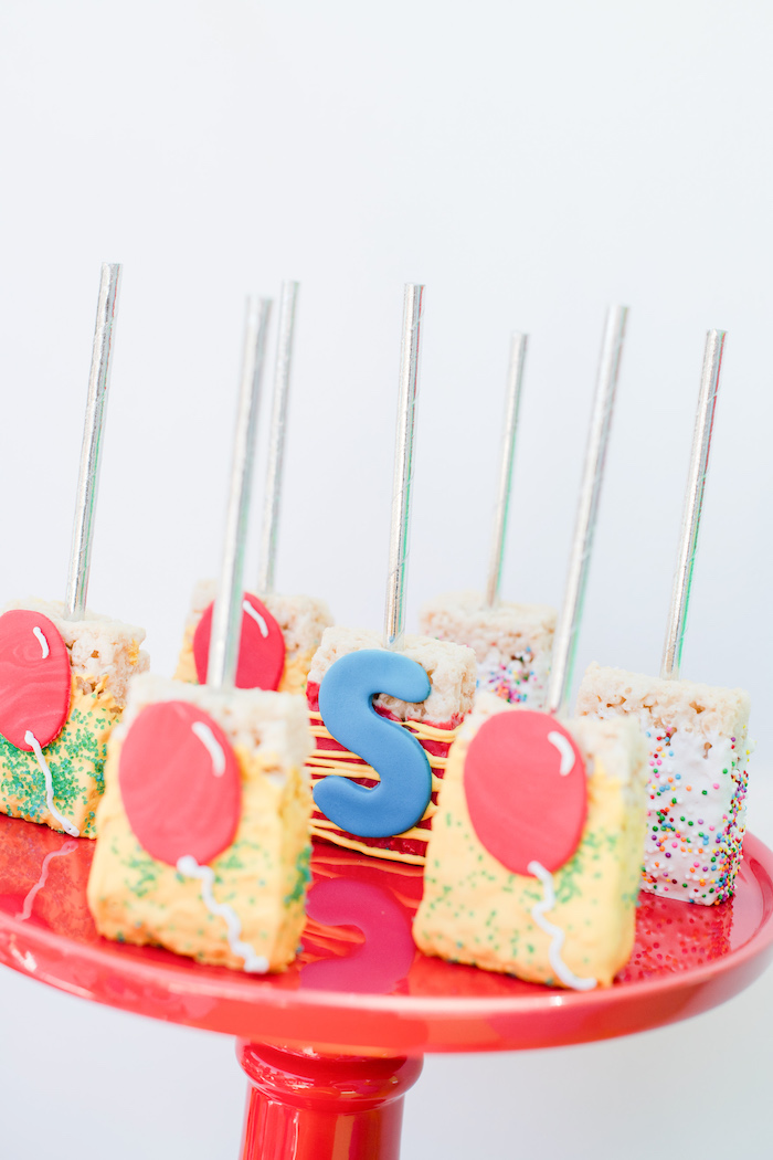 Curious George-inspired Rice Krispie Treats from a Curious George Birthday Party on Kara's Party Ideas | KarasPartyIdeas.com (32)