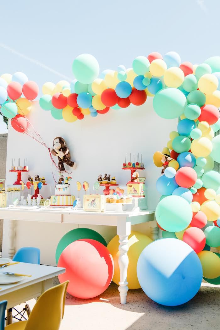 Curious George Dessert Table from a Curious George Birthday Party on Kara's Party Ideas | KarasPartyIdeas.com (13)