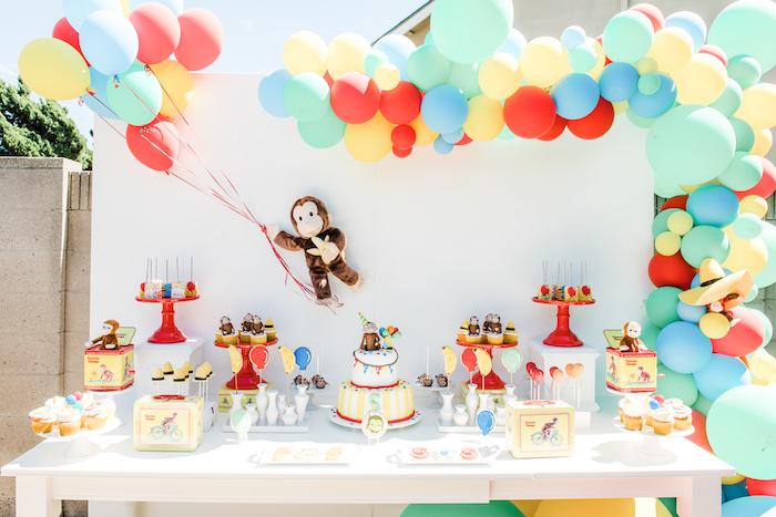 Curious George Dessert Table from a Curious George Birthday Party on Kara's Party Ideas | KarasPartyIdeas.com (9)