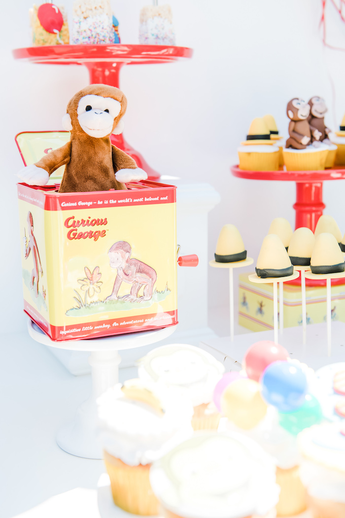 Sweets & Decor from a Curious George Birthday Party on Kara's Party Ideas | KarasPartyIdeas.com (8)