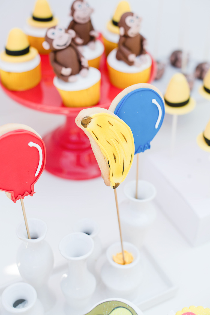 Curious George-inspired Cookie Pops from a Curious George Birthday Party on Kara's Party Ideas | KarasPartyIdeas.com (27)