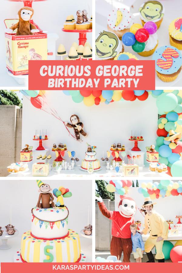 Curious George Birthday Party via Kara's Party Ideas - KarasPartyIdeas.com
