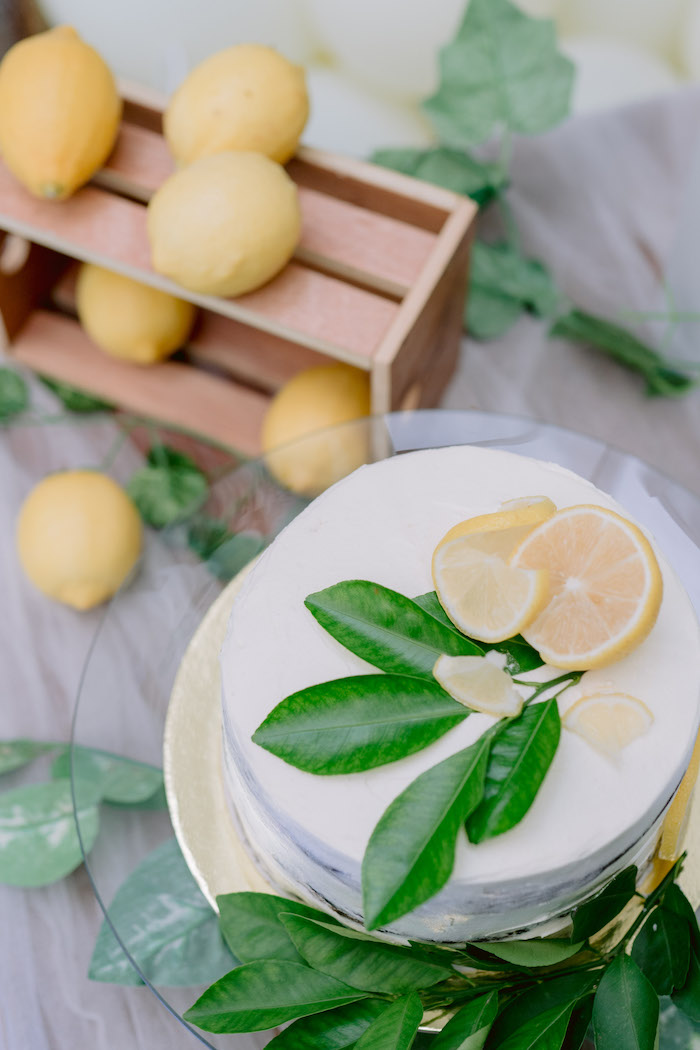 Lemon-inspired Cake from a Dainty Lemon Baptism Brunch on Kara's Party Ideas | KarasPartyIdeas.com (11)