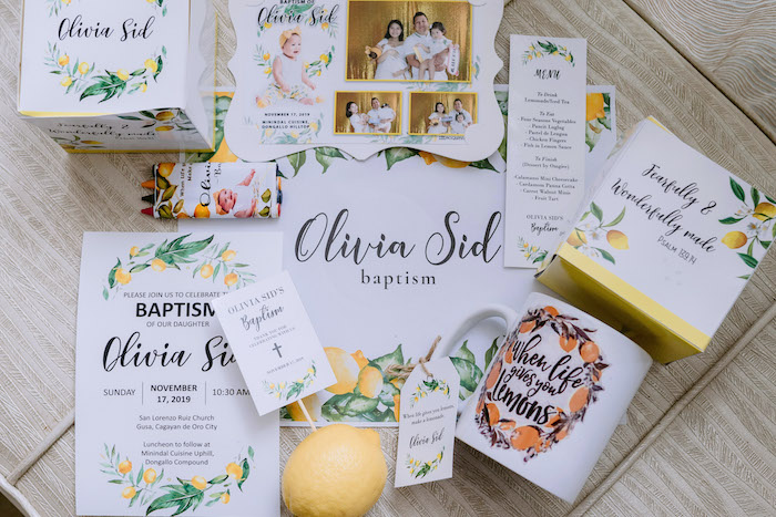 Lemon Party Signage from a Dainty Lemon Baptism Brunch on Kara's Party Ideas | KarasPartyIdeas.com (4)