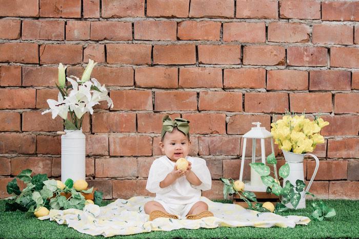Lemon Themed Photo Shoot from a Dainty Lemon Baptism Brunch on Kara's Party Ideas | KarasPartyIdeas.com (21)