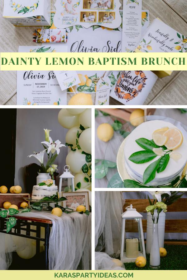 Dainty Lemon Baptism Brunch via Kara's Party Ideas - KarasPartyIdeas.com