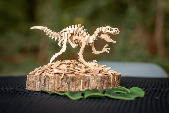 Dinosaur Fossil Prop from a Dino-mite Birthday Party on Kara's Party Ideas | KarasPartyIdeas.com (16)