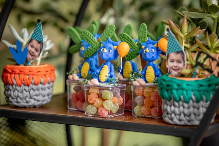 Dinosaur Treat Boxes from a Dino-mite Birthday Party on Kara's Party Ideas | KarasPartyIdeas.com (21)