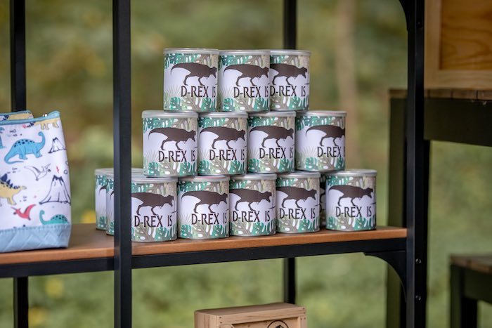 Custom T-Rex Favor Tins from a Dino-mite Birthday Party on Kara's Party Ideas | KarasPartyIdeas.com (18)