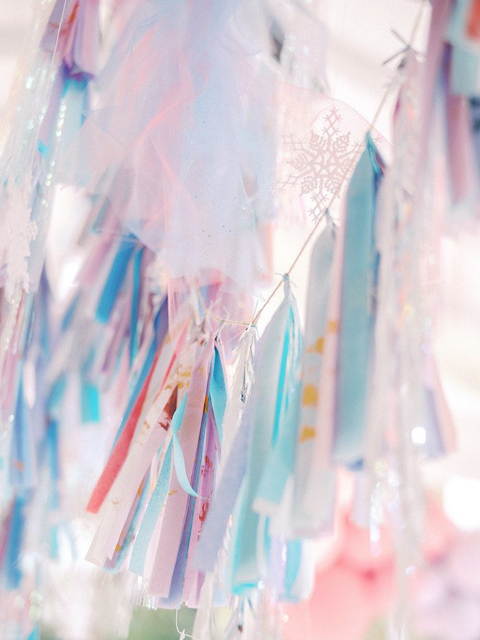 Snowflake Tassel Garland from an Elegant Frozen Birthday Party on Kara's Party Ideas | KarasPartyIdeas.com (25)