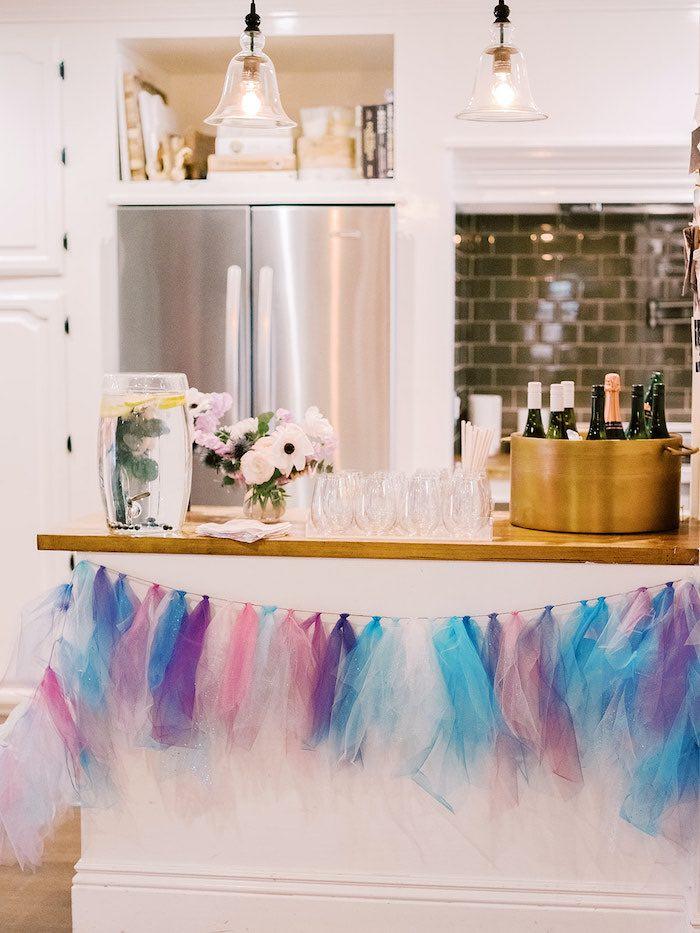Frozen-inspired Beverage Bar from an Elegant Frozen Birthday Party on Kara's Party Ideas | KarasPartyIdeas.com (23)