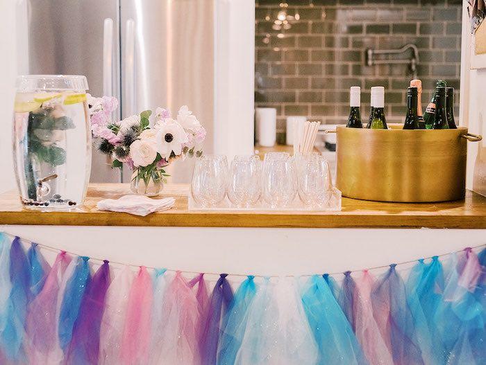 Frozen-inspired Beverage Bar from an Elegant Frozen Birthday Party on Kara's Party Ideas | KarasPartyIdeas.com (22)