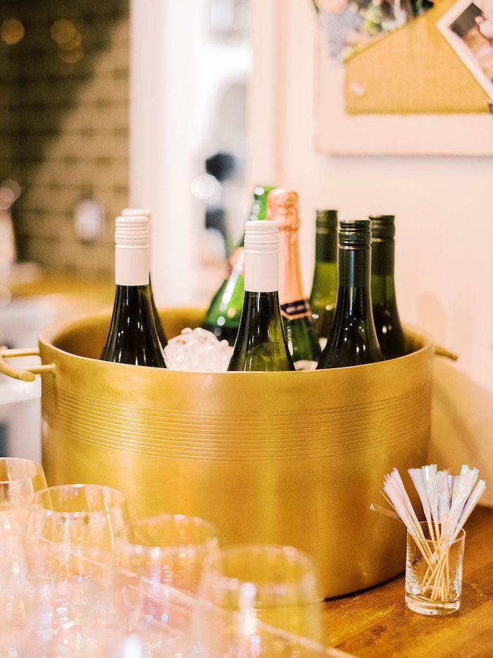 Gold Drink Bucket from an Elegant Frozen Birthday Party on Kara's Party Ideas | KarasPartyIdeas.com (21)