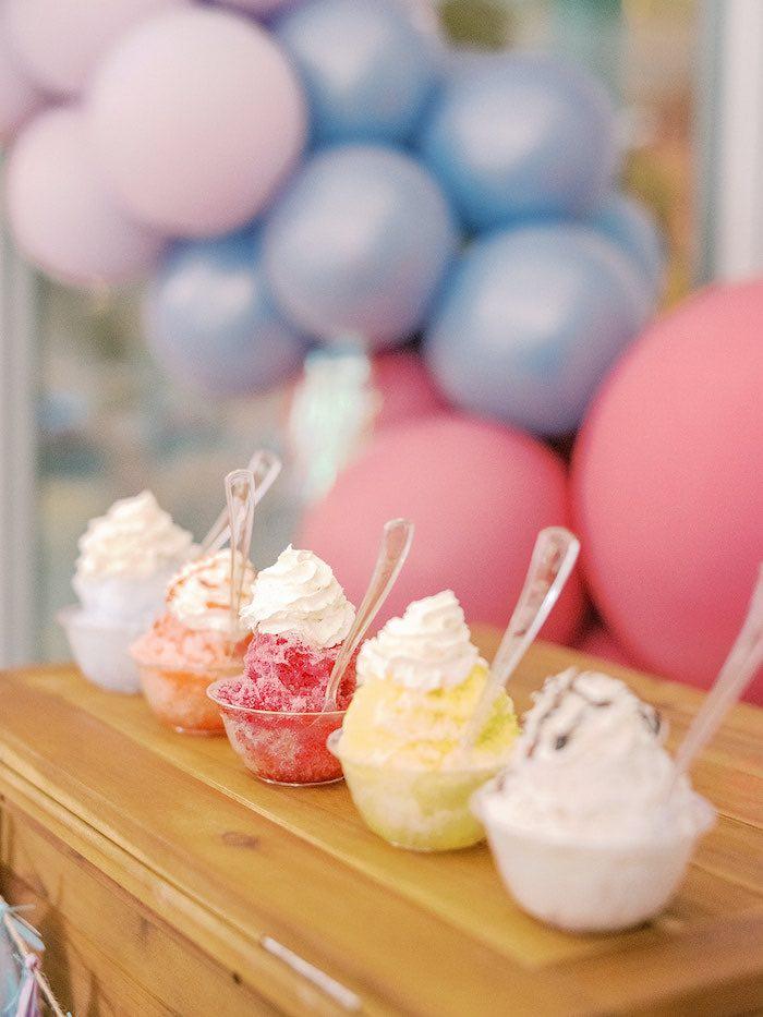 Gourmet Snow Cones from an Elegant Frozen Birthday Party on Kara's Party Ideas | KarasPartyIdeas.com (20)