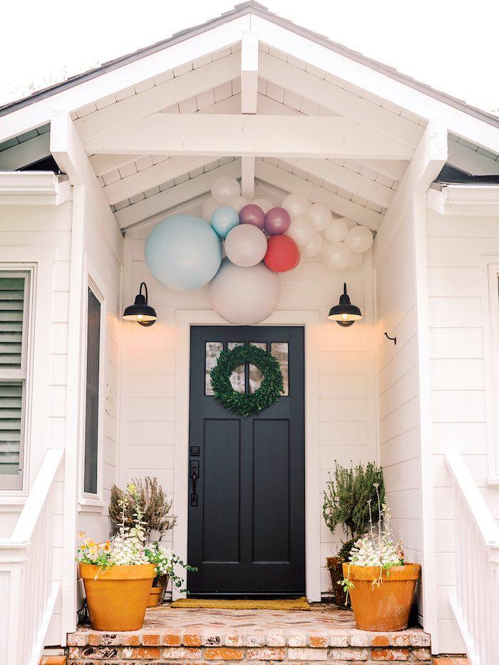 Door Balloon Install from an Elegant Frozen Birthday Party on Kara's Party Ideas | KarasPartyIdeas.com (18)