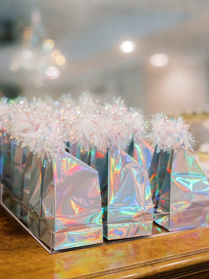Iridescent Favor Sacks from an Elegant Frozen Birthday Party on Kara's Party Ideas | KarasPartyIdeas.com (9)