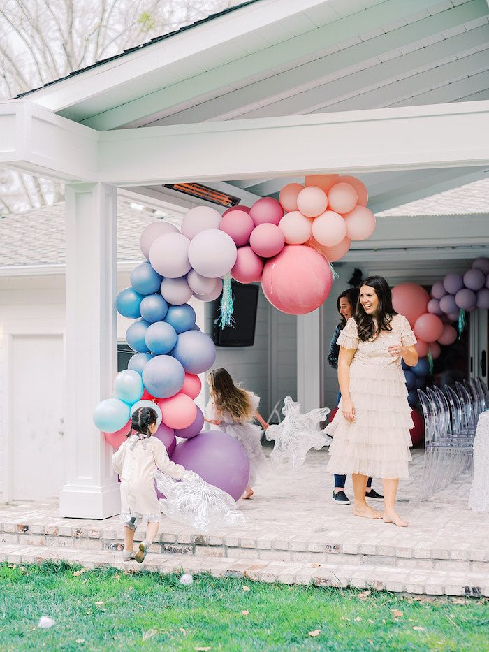 Pastel Balloon Garland form an Elegant Frozen Birthday Party on Kara's Party Ideas | KarasPartyIdeas.com (8)