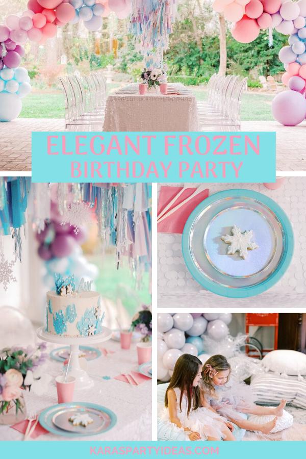 Elegant Frozen Birthday Party via Kara's Party Ideas - KarasPartyIdeas.com