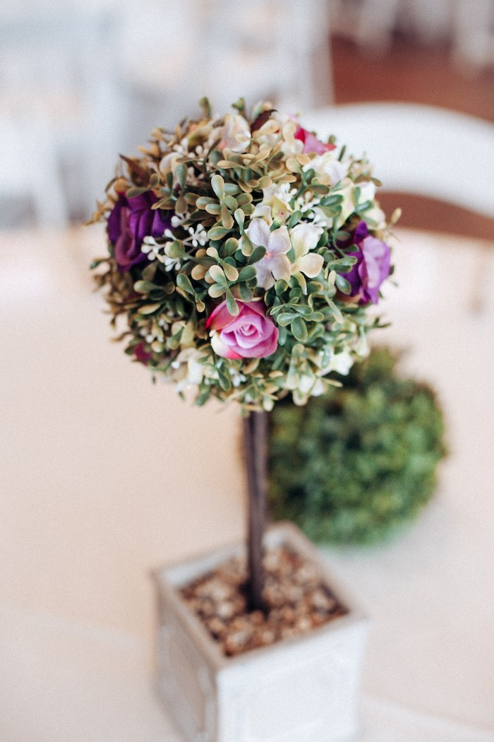 Topiary Table Centerpiece from an Elegant Secret Garden Birthday Party on Kara's Party Ideas | KarasPartyIdeas.com (43)