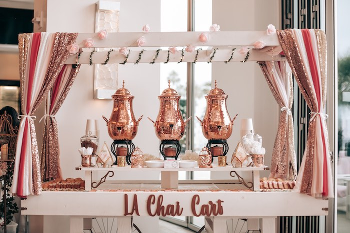Chai Cart from an Elegant Secret Garden Birthday Party on Kara's Party Ideas | KarasPartyIdeas.com (32)