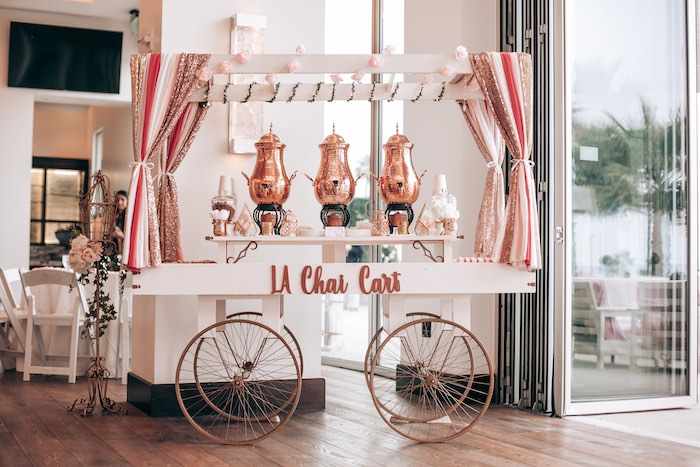 Chai Cart from an Elegant Secret Garden Birthday Party on Kara's Party Ideas | KarasPartyIdeas.com (31)