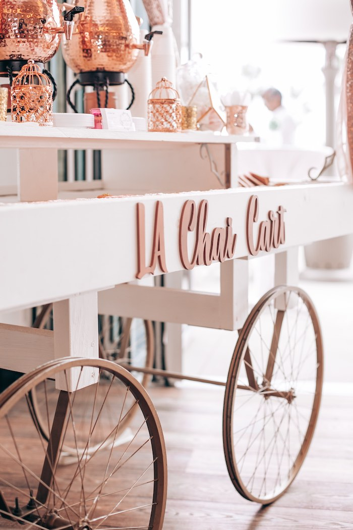 Chai Cart from an Elegant Secret Garden Birthday Party on Kara's Party Ideas | KarasPartyIdeas.com (30)