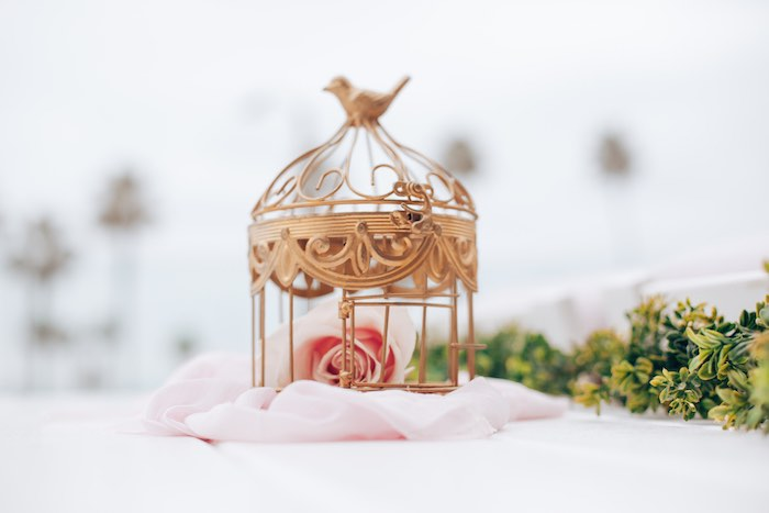 Bird Cage & Bloom Decor / Centerpiece from an Elegant Secret Garden Birthday Party on Kara's Party Ideas | KarasPartyIdeas.com (28)
