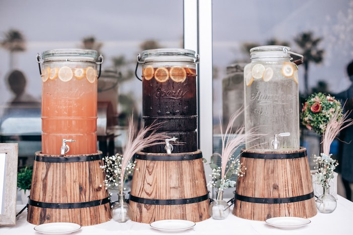 Wood Barrel Beverage Dispensers from an Elegant Secret Garden Birthday Party on Kara's Party Ideas | KarasPartyIdeas.com (26)