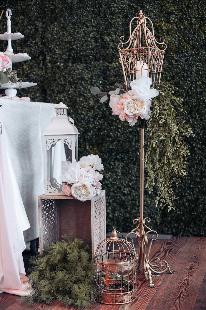 Gold Garden Lantern from an Elegant Secret Garden Birthday Party on Kara's Party Ideas | KarasPartyIdeas.com (23)
