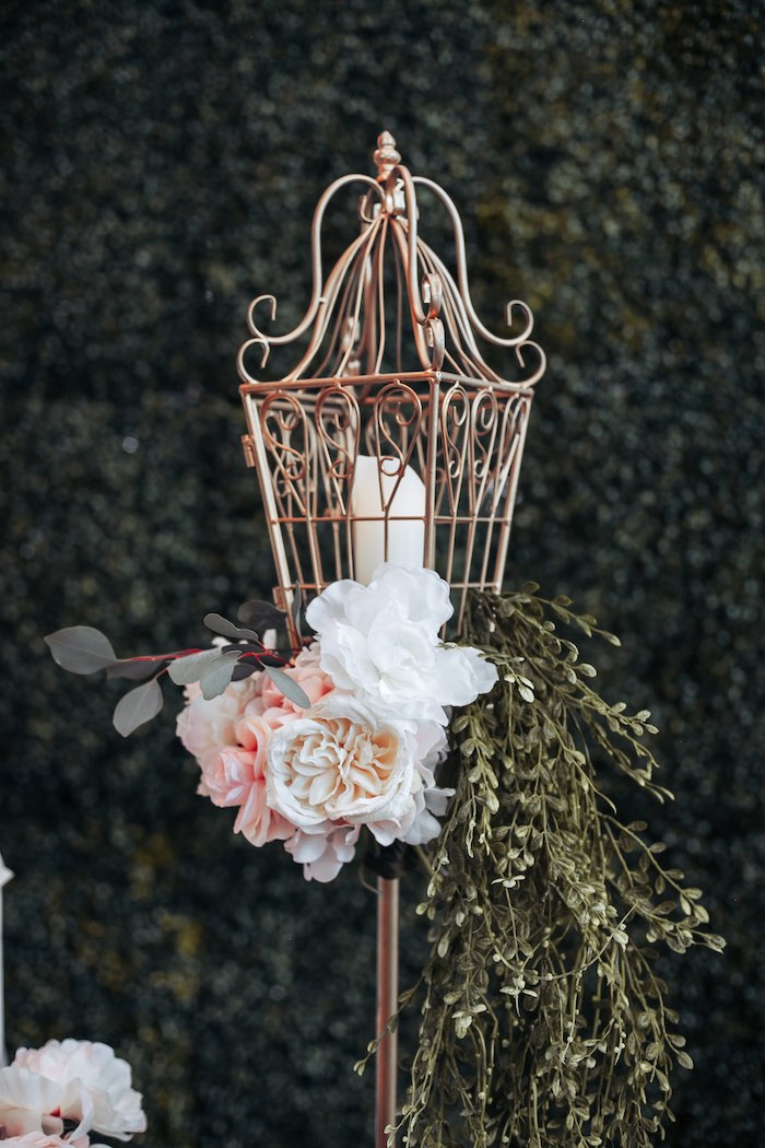Gold Garden Lantern from an Elegant Secret Garden Birthday Party on Kara's Party Ideas | KarasPartyIdeas.com (22)