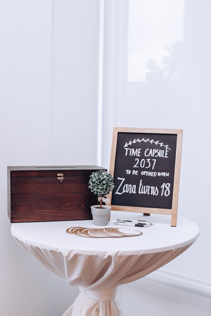 Time Capsule from an Elegant Secret Garden Birthday Party on Kara's Party Ideas | KarasPartyIdeas.com (12)