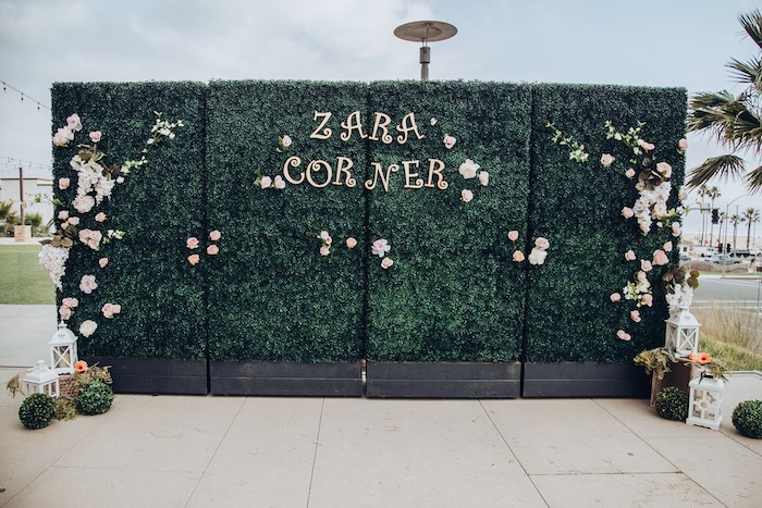 Topiary Wall from an Elegant Secret Garden Birthday Party on Kara's Party Ideas | KarasPartyIdeas.com (8)