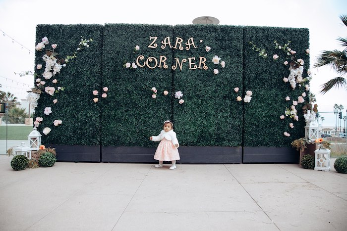 Topiary Wall from an Elegant Secret Garden Birthday Party on Kara's Party Ideas | KarasPartyIdeas.com (6)