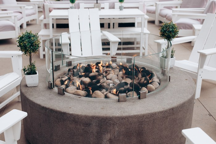 Fire pit from an Elegant Secret Garden Birthday Party on Kara's Party Ideas | KarasPartyIdeas.com (50)