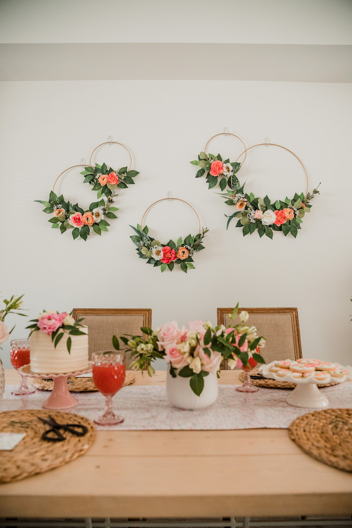 Floral Crafting Bridal Shower on Kara's Party Ideas | KarasPartyIdeas.com (20)