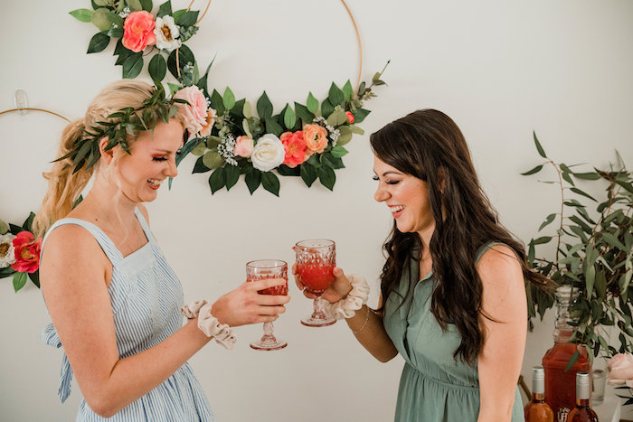Cocktails from a Floral Crafting Bridal Shower on Kara's Party Ideas | KarasPartyIdeas.com (10)