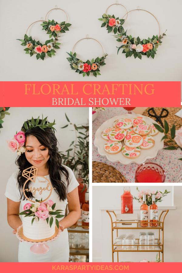 Floral Crafting Bridal Shower via Kara's Party Ideas - KarasPartyIdeas.com
