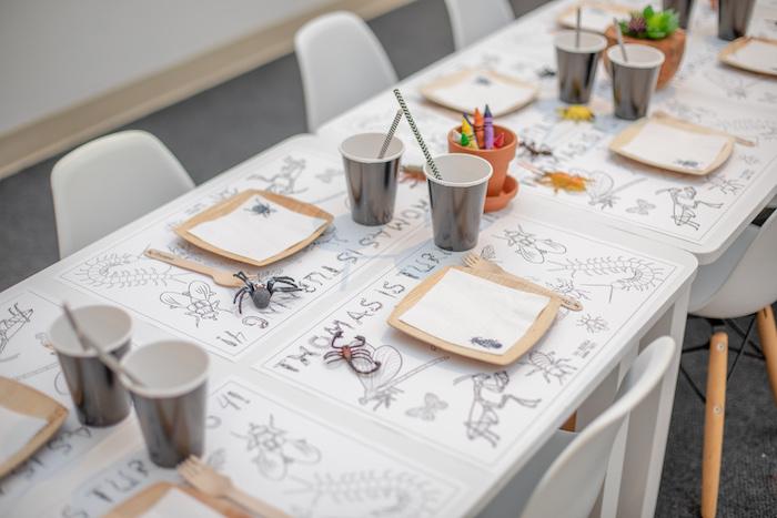 Bug Themed Kid Table from an Insect & Bug Birthday Bash on Kara's Party Ideas | KarasPartyIdeas.com (5)