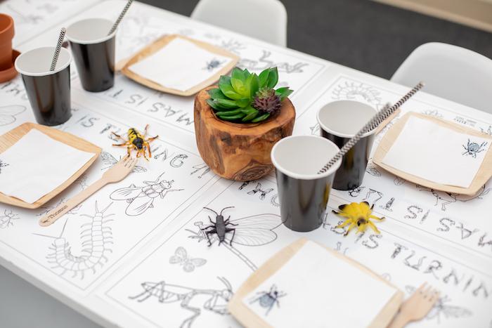 Bug Themed Kid Table from an Insect & Bug Birthday Bash on Kara's Party Ideas | KarasPartyIdeas.com (12)